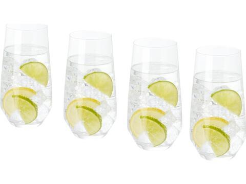 4-delige longdrink glazen set