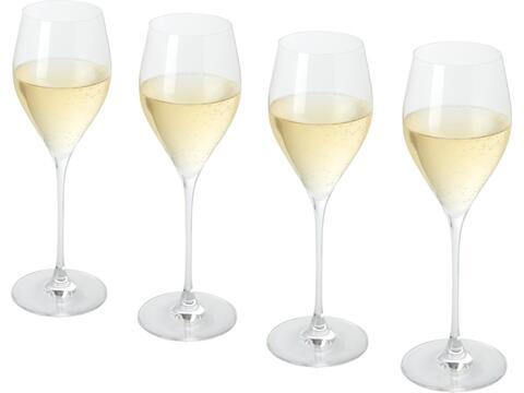 4-delige prosecco glazen set