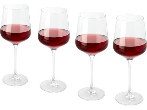 4-delige rode wijn glazen set