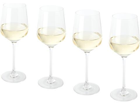 4-delige witte wijn glazen set