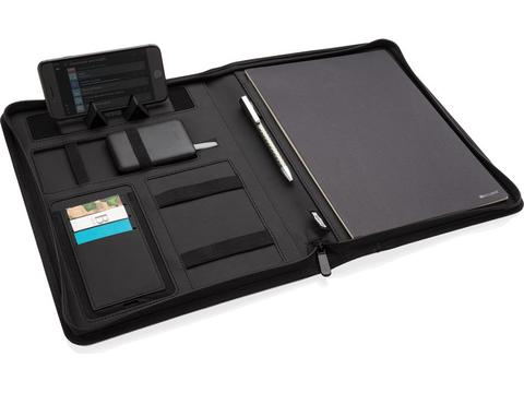 5W rPET A4 portfolio met draadloze oplader Air