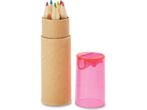 6 colouring pencils in tube