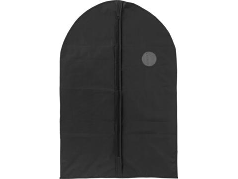 Garment bag with a zipper