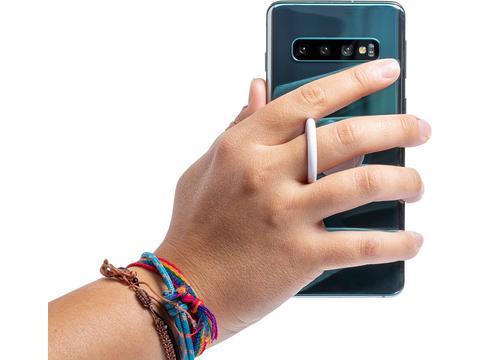 Antibacteriële smartphone houder met winkelwagen muntje