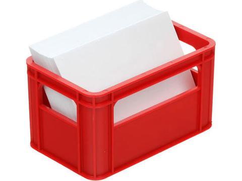 Notepad box or beermat holder