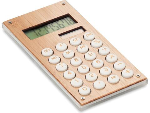 8-Cijferige bamboe rekenmachine