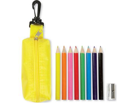 Trousse 8 crayons de couleur