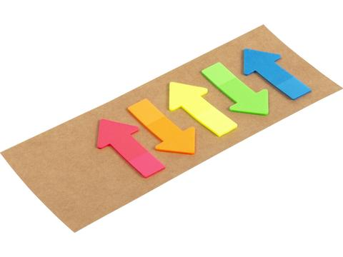 Cardboard with sticky notes