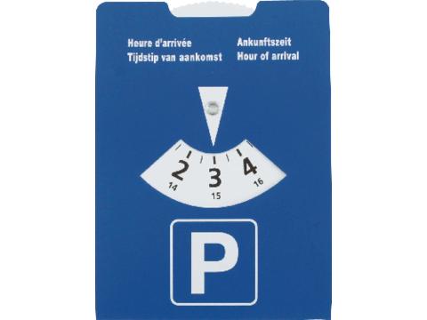 Parkeerschijf uit karton