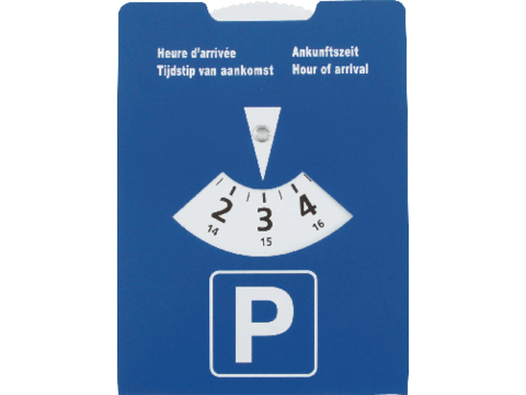 Parking disc cardboard