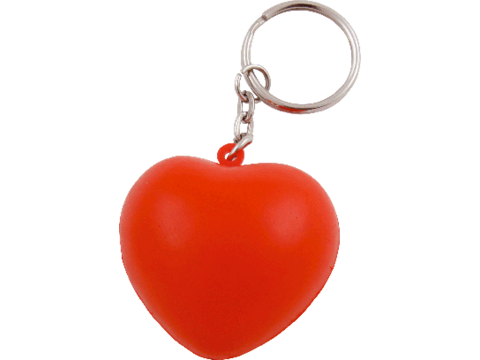 Anti-stress key-ring heart