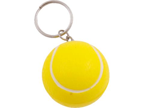 Anti-stress key-ring tennis-ball