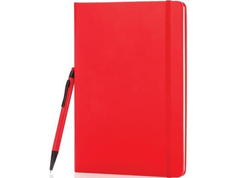 A5 basic hardcover notitieboek met touchscreen pen