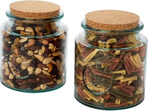 Aire 2-piece 1500 ml recycled glass container set