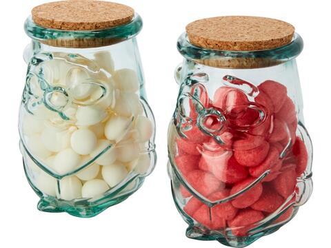 Airoel 2 delige containerset van gerecycled glas