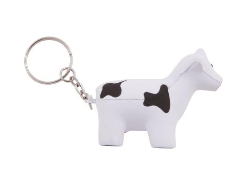 Anti-stress Vache avec porte-clés