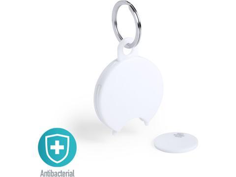 Porte-clés antibactérien avec pièce de monnaie