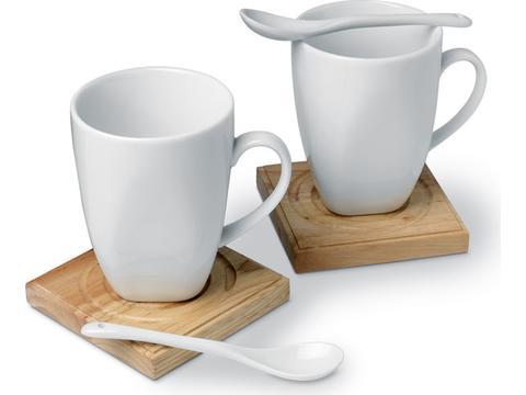Koffieset in geschenk verpakking - 2x 250 ml