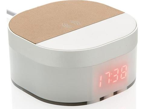 Réveil digital avec chargeur à induction 5W Aria
