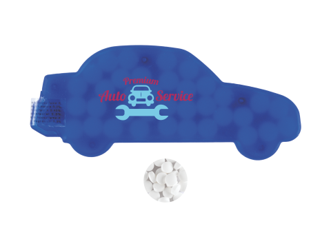 Auto mintdispenser met pepermuntjes