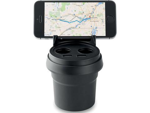 Autolader en smartphone houder