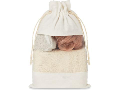 Bath set in jute bag