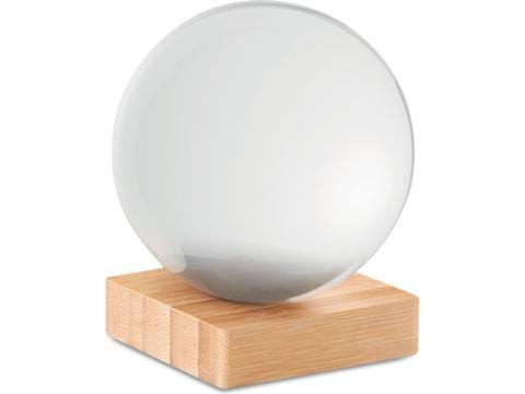 Bal van kristalglas voor special effect foto's