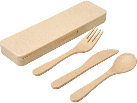 Bamberg bamboo fiber cutlery set
