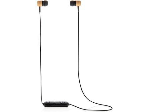 Ecouteurs sans fil en bambou