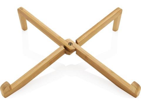 Bamboe draagbare laptop of iPad standaard