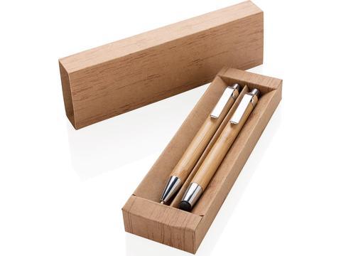 Bamboe eco pennenset met vulpotlood