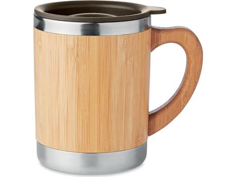Stainless Steel tumbler with bamboo case - 300 ml