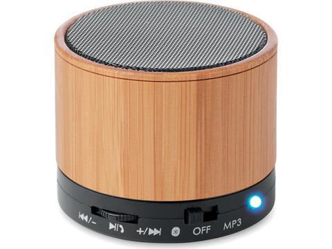 Bamboo Speaker Round