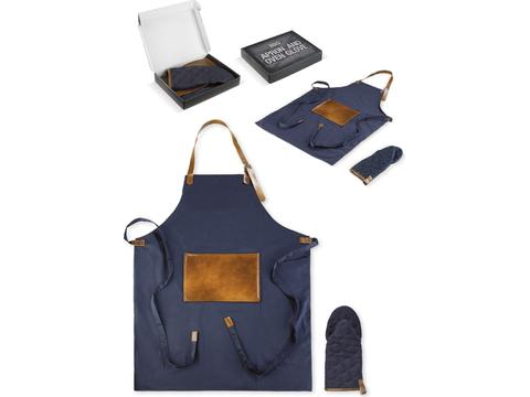 BBQ apron and mitten