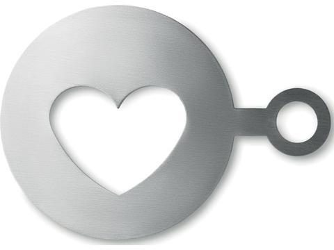 Heart shape coffee stencil