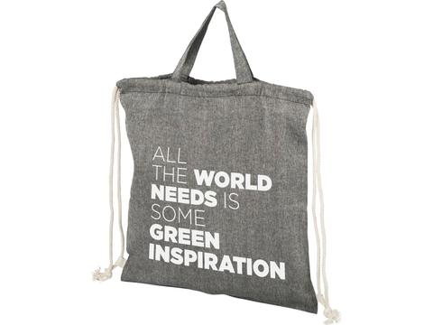 Be Inspired 150 g/m2 recycled cotton drawstring backpack