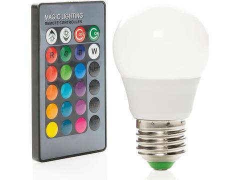 Ampoule de couleur avec télécommande