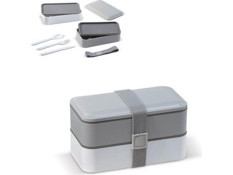Bento box met bestek 18 x 11 x 10,5 cm