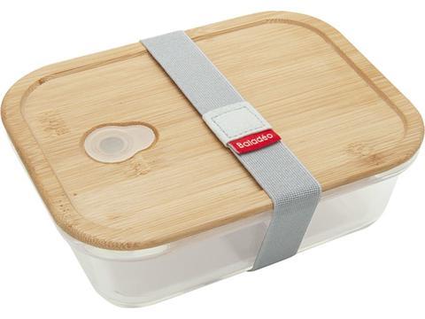 Bento lunchbox van Borosilicaat glas met bamboe deksel
