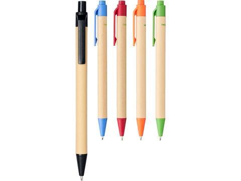 Berkan recycled carton and corn ballpoint pen