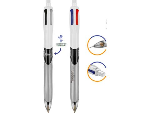 BIC 4 Colours - 3 stylos + portemine