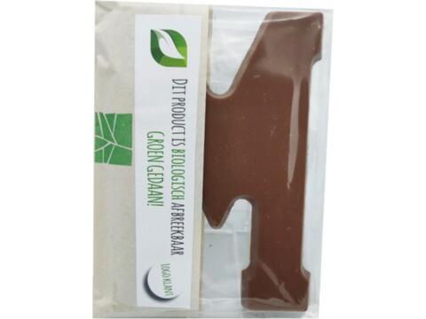 Bio Chocoladeletter 200 gr - Kies van A tot Z