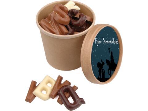 Bio Sint chocoladebeker - 150 gram lettertjes