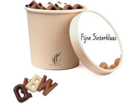 Saint  Nicolas cup with chocolate letters - 350 gr.