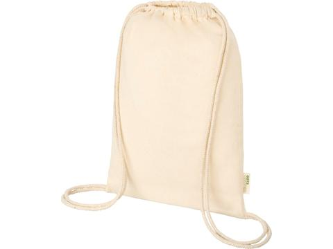 Orissa 100 g/m² GOTS organic cotton drawstring backpack