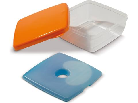 Lunchbox with cooler compartment