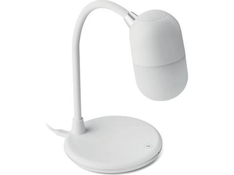 Lampe de bureau, chargeur sans fil et haut-parleur