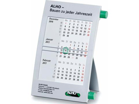 Classic Desk Calendar for 2 years