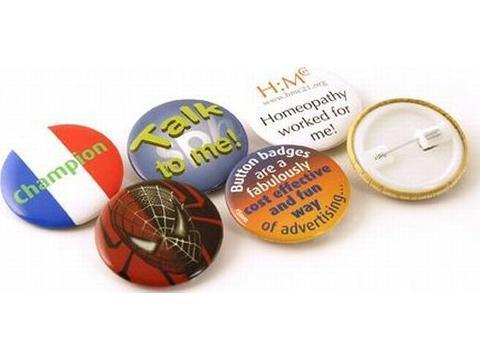 Button badges 45 mm.