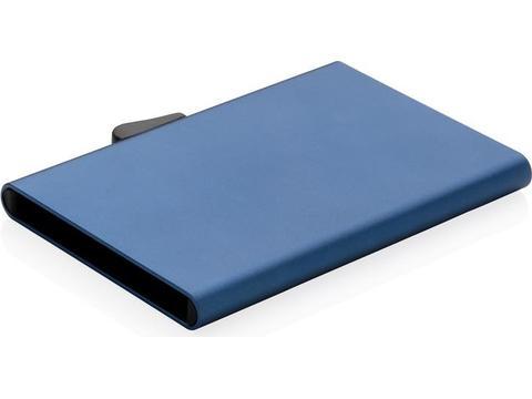Porte-cartes en aluminium anti RFID C-Secure